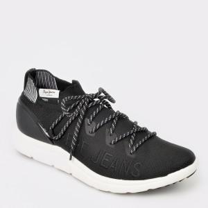 Pantofi sport PEPE JEANS negri, Ms30521, din material textil