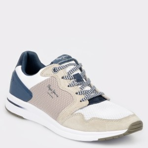 Pantofi sport PEPE JEANS gri, Ms30515, din material textil