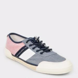 Pantofi sport PEPE JEANS albastru, Ms10276, din material textil