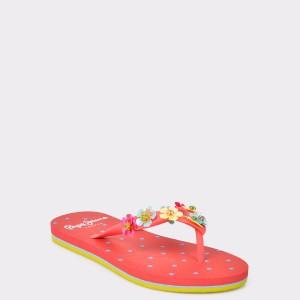 Slapi pentru copii PEPE JEANS rosii 1 din PVC