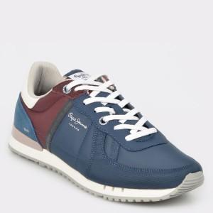 Pantofi sport PEPE JEANS bleumarin, Ms30509, din material textil