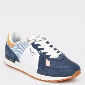 Pantofi sport PEPE JEANS bleumarin, Ms30510, din material textil