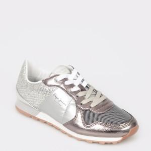 Pantofi sport PEPE JEANS argintii, Ls30798, din piele ecologica