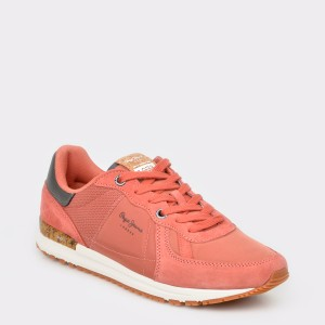 Pantofi sport PEPE JEANS portocalii, Ms30511, din material textil