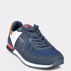 Pantofi Sport Pepe Jeans Bleumarin, Bs30420, Din Material Textil