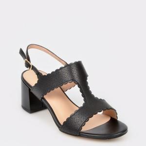 Sandale Image Negre, 81780, Din Piele Naturala