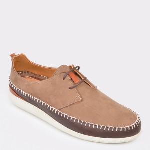Pantofi OTTER maro, M5048, din nabuc