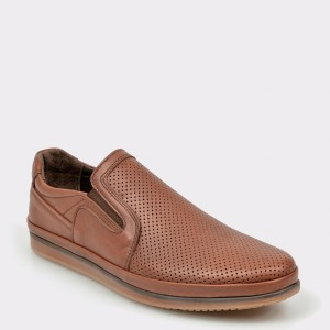 Pantofi OTTER maro, M5024, din piele naturala
