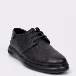 Pantofi OTTER negri, Pantof Barbat, din piele naturala