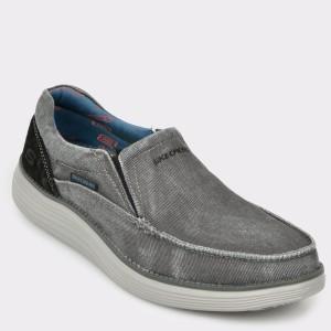 Pantofi SKECHERS gri, 66014, din canvas