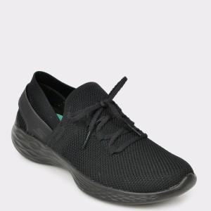 Pantofi sport SKECHERS negri, 14960, din materia textil