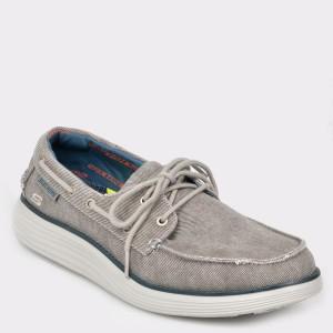 Pantofi SKECHERS gri, 65908, din canvas