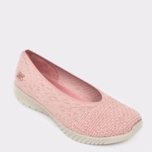 Espadrile SKECHERS roz, 23635, din material textil