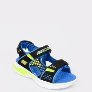 Sandale pentru copii SKECHERS albastre  90558L din piele ecologica