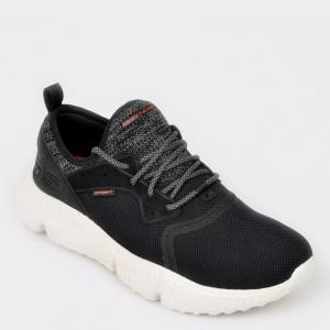 Pantofi sport SKECHERS negri, 51902, din material textil