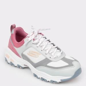 Pantofi sport SKECHERS gri, 13140, din material textil