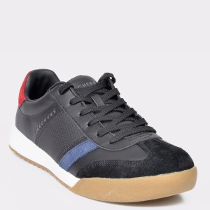 Pantofi Sport Skechers Negri, 52321, Din Piele Naturala