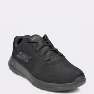 Pantofi sport SKECHERS negri, 54619, din piele naturala