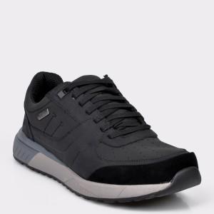 Pantofi sportSKECHERS negri, 66398, din piele ecologica