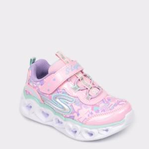 Pantofi SKECHERS roz, 20180N, din material textil
