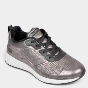 Pantofi Sport Skechers Argintii, 33155, Din Piele Ecologica