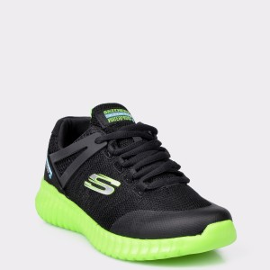 Pantofi sport SKECHERS negri, 97893L, din material textil