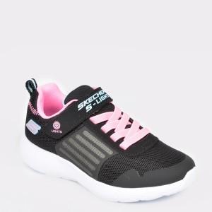 Pantofi SKECHERS negri, 20268L, din material textil