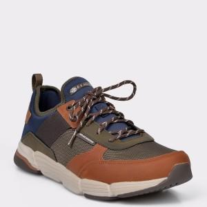 Pantofi sport SKECHERS kaki, 6617, din material textil