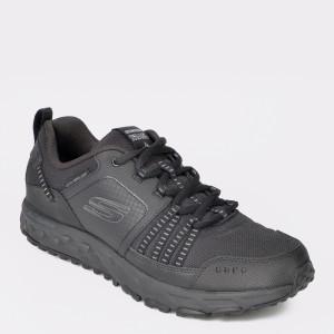 Pantofi sport SKECHERS negri, 51591, din material textil