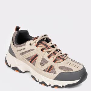 Pantofi Sport Skechers Bej, 51885, Material Textil