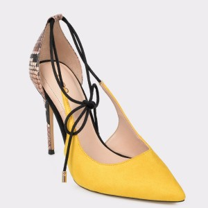 Pantofi ALDO galbeni Realonna din piele ecologica