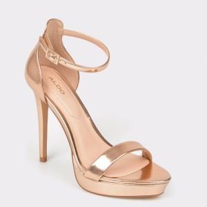 Sandale ALDO aurii, Madalene, din piele ecologica