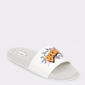 Papuci ALDO albi, Merillyra, din PVC