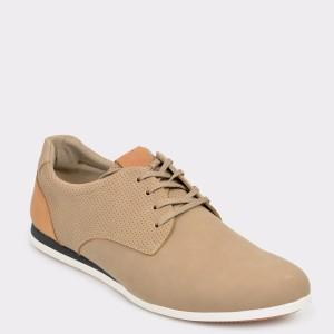Pantofi ALDO bej, Ibareni, din piele ecologica