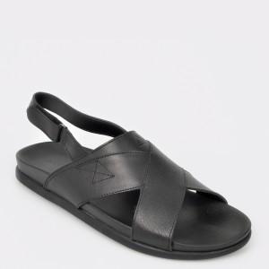Sandale barbati ALDO negre Cleveleys din piele naturala
