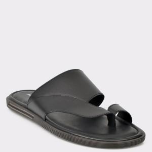 Papuci ALDO negri, Daysa, din piele naturala