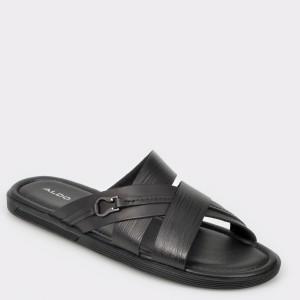 Papuci ALDO negri, Tayrien, din piele naturala