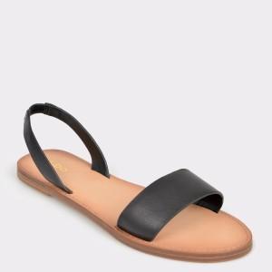 Sandale ALDO negre Toawen din piele naturala