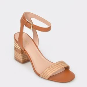 Sandale ALDO maro, Gweilian, din piele naturala