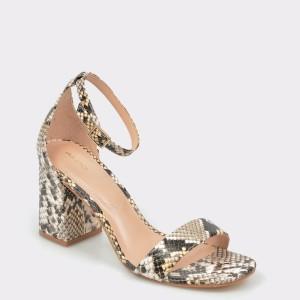 Sandale ALDO gri, Eteisa, din piele naturala