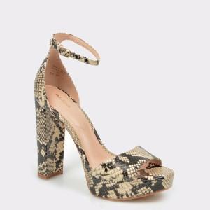 Sandale ALDO bej, Paeria, din piele naturala