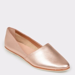 Balerini ALDO aurii, Blanchette, din piele naturala