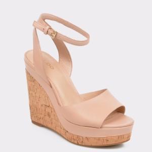Sandale ALDO nude, Adruwien, din piele naturala