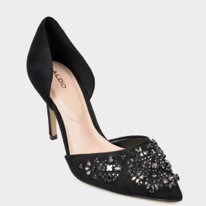 Pantofi ALDO negri Thoresien din piele ecologica