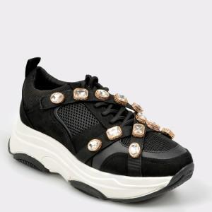 Pantofi sport ALDO negri, Countee, din material textil