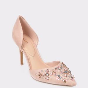 Pantofi ALDO roz Thoresien din piele intoarsa