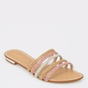 Papuci ALDO multicolori, Droelian, din material textil