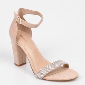 Sandale ALDO bej, Jerayclya, din piele intoarsa
