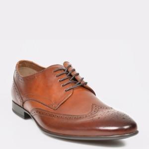 Pantofi ALDO maro Nilidien din piele naturala