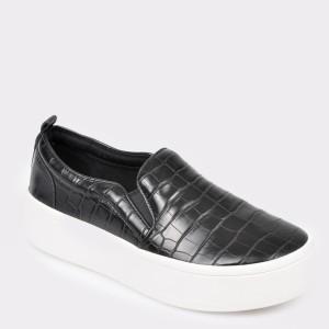 Pantofi ALDO negri Alarka din piele naturala